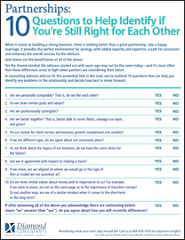 Partnerships: 10 Questions to Help Identify if You're Still Right for Each Other